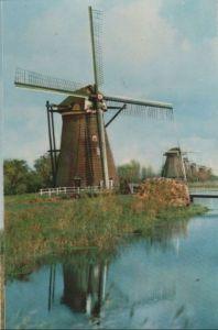 Niederlande - Niederlande - Molenwaard-Kinderdijk - Holländische Mühle - ca. 1960
