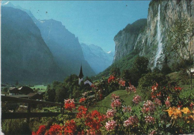 Schweiz - Schweiz - Lauterbrunnen - Staubbachfall - 1995