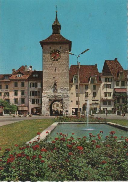 Schweiz - Schweiz - Solothurn - Amtshausplatz und Bieltor - ca. 1975