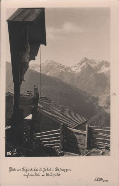 Österreich - Österreich - Sankt Jakob - Blick von Tegisch auf Rot- und Weißspitze - ca. 1950