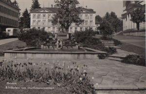 Schweiz - Schweiz - Heiden - Kirchplatz mit Dorfbrunnenanlage - 1956