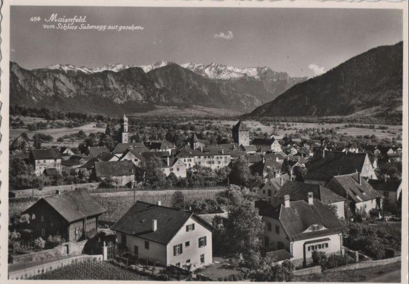 Schweiz - Schweiz - Maienfeld - vom Schloss Salenegg gesehen - ca. 1965