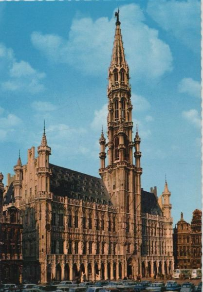 Belgien - Belgien - Brüssel - Bruxelles - Grand Place, Hotel de Ville - ca. 1980