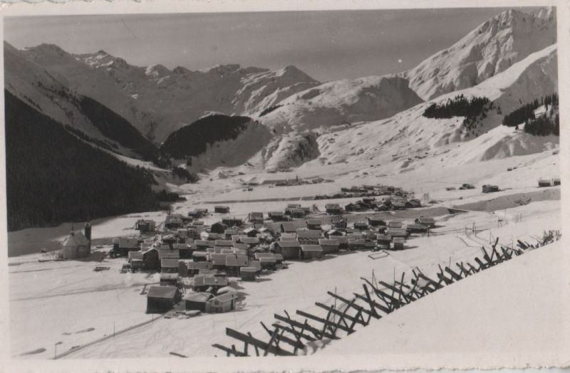 Schweiz - Schweiz - Sedrun - gegen Cuolm-Val Abfahrt - ca. 1960