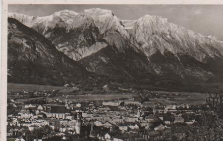 Österreich - Österreich - Hall in Tirol - Gesamtansicht gegen Norden - ca. 1945