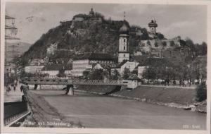 Österreich - Österreich - Graz - Mur und Schlossberg - 1940