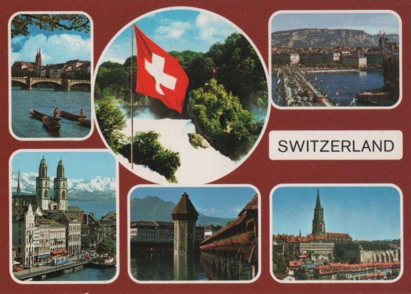 Schweiz - Schweiz - Schweiz - 6 Teilbilder - 1990