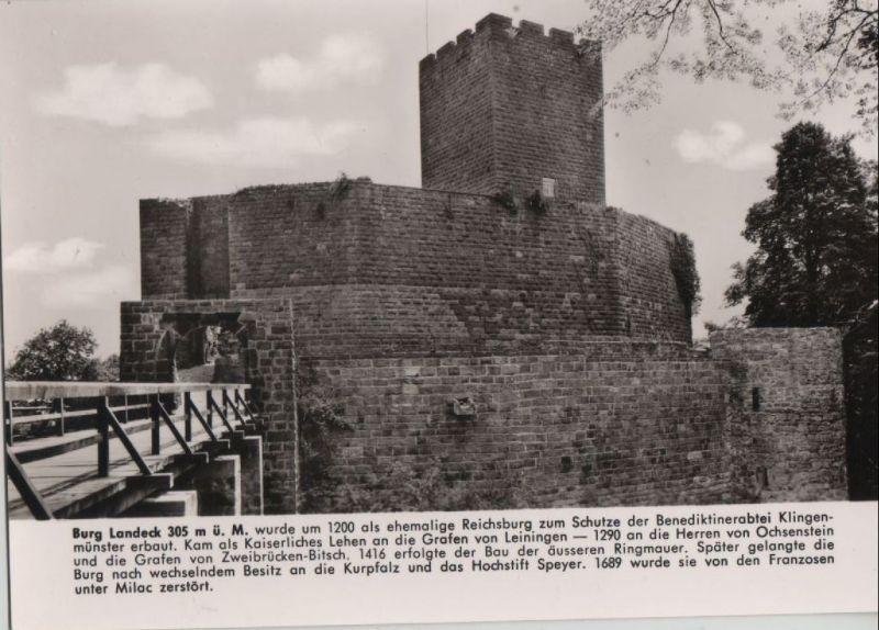Klingenmünster - Burgschänke Landeck - ca. 1965 Nr. 0081783 ...