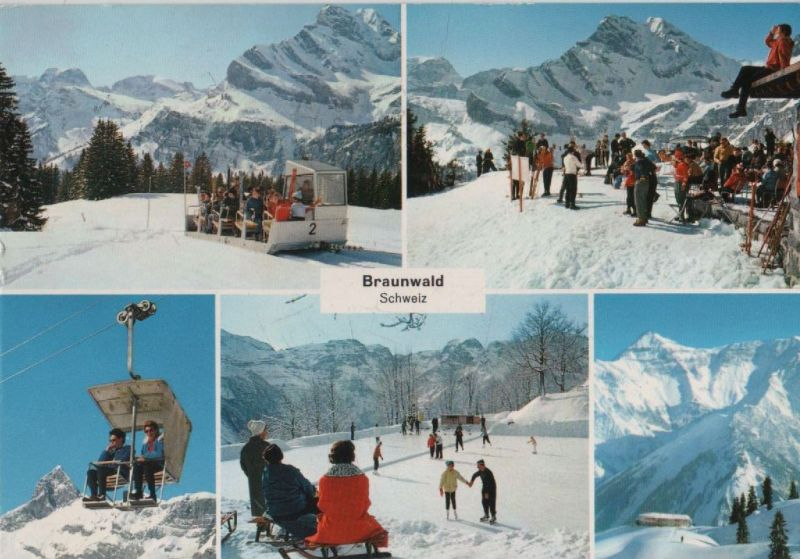 Schweiz - Schweiz - Braunwald - 5 Teilbilder - 1968