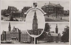 Niederlande - Niederlande - Groningen - u.a. Provinciehuis - ca. 1955