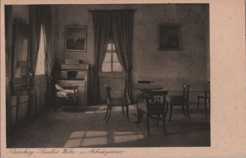 dornburg goethes wohn und arbeitszimmer ca 1940 nr 0088428 oldthing ansichtskarten. Black Bedroom Furniture Sets. Home Design Ideas