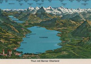Schweiz - Schweiz - Thun - mit Berner Oberland - ca. 1980