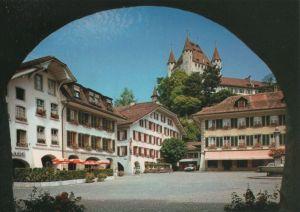 Schweiz - Schweiz - Thun - Rathausplatz mit Schloss - ca. 1985