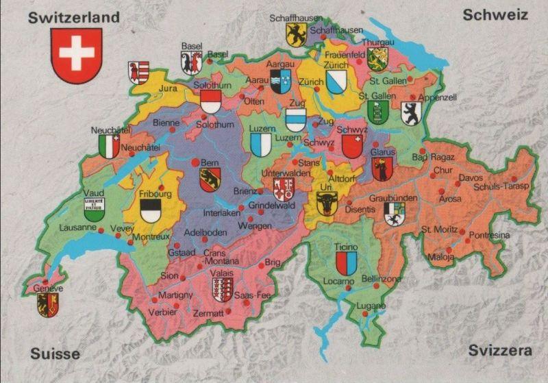 Schweiz - Schweiz - Schweiz - Übersichtskarte - 2007