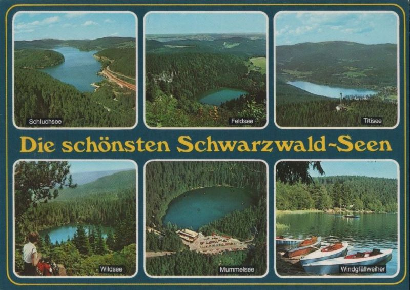 schwarzwald die sch nsten seen ca 1995 nr 0091564 oldthing ansichtskarten deutschland. Black Bedroom Furniture Sets. Home Design Ideas