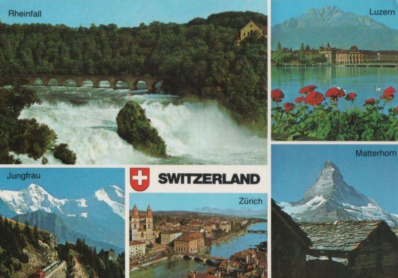 Schweiz - Schweiz - Schweiz - u.a. Rheinfall - 1990