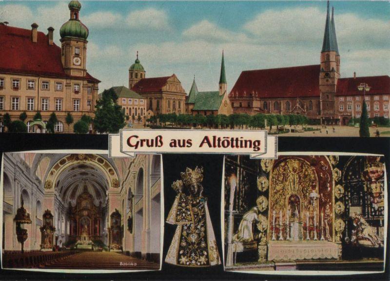 Altötting - 4-Bilder-Karte - ca. 1975