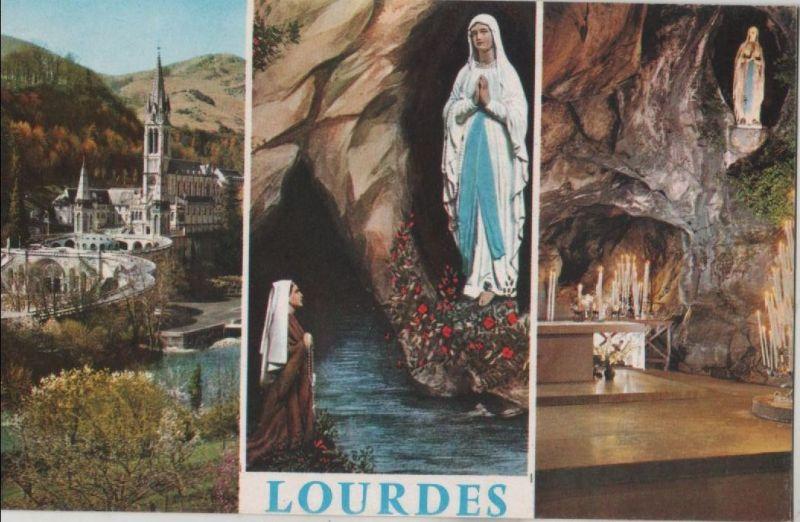 Frankreich - Frankreich - Lourdes - La Basilique - ca. 1965