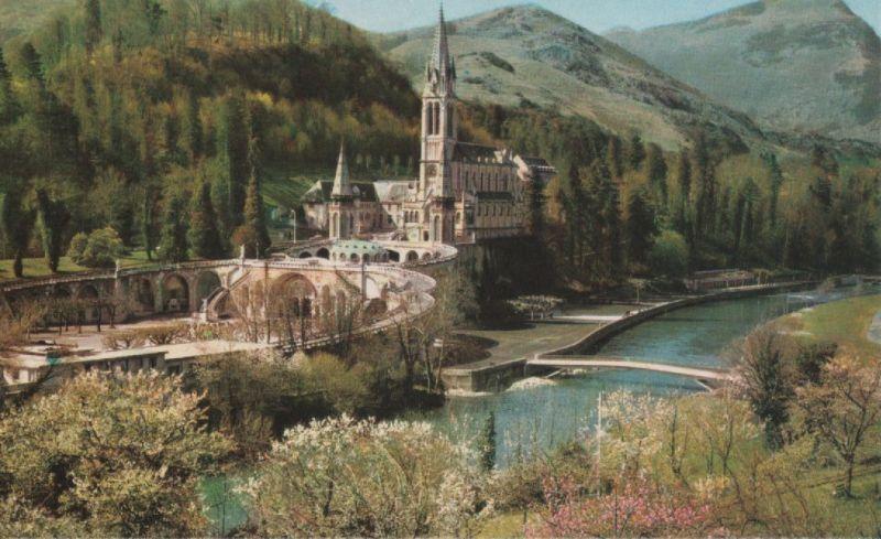 Frankreich - Frankreich - Lourdes - La Basilique - ca. 1970