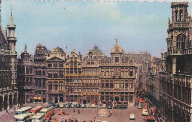 Belgien - Belgien - Brüssel - Bruxelles - Un coin de la Grand Place - ca. 1965