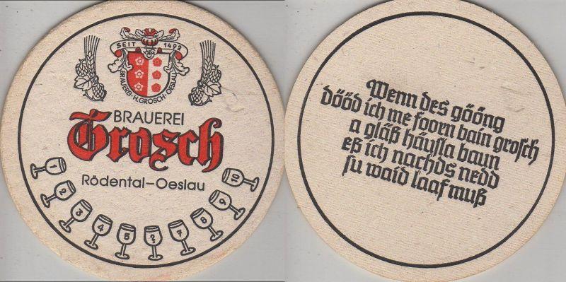 Bierdeckel rund - Grosch