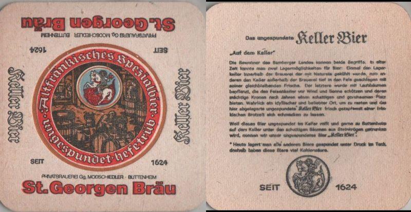Bierdeckel quadratisch - St. Georgen Bräu, Buttenheim