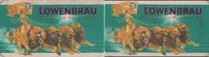 Bierdeckel rechteckig - Löwenbräu