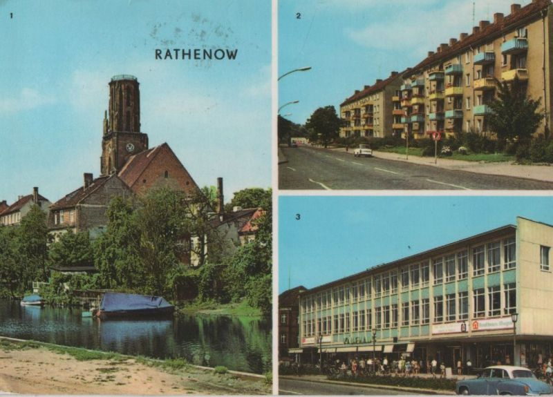 Rathenow - u.a. Leninallee - 1976