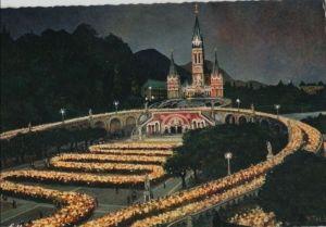 Frankreich - Frankreich - Lourdes - La Basilique illuminee - ca. 1980 0