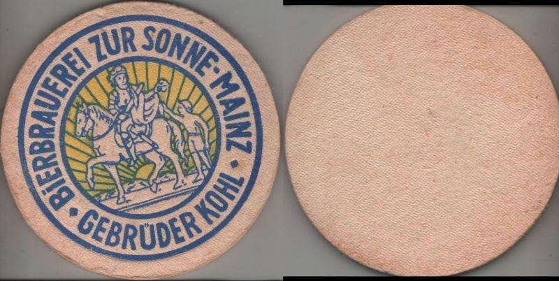 Bierdeckel rund - Brauerei Zur Sonne