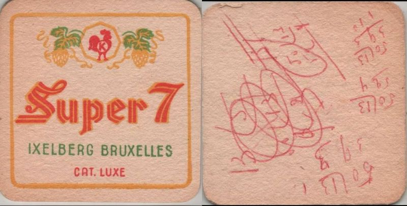 Bierdeckel quadratisch - Super 7, Ixelberg