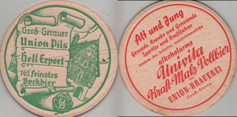 Bierdeckel rund - Unionbrauerei, Groß-Gerau