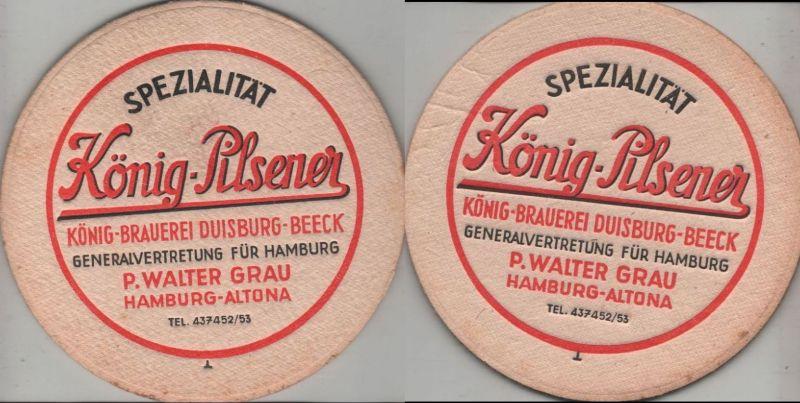 Bierdeckel rund - König-Pilsener