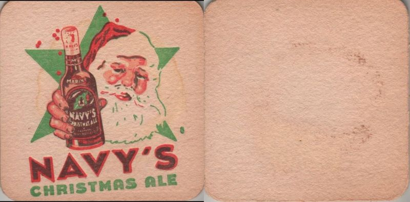 Bierdeckel quadratisch - Navy Christmas Ale