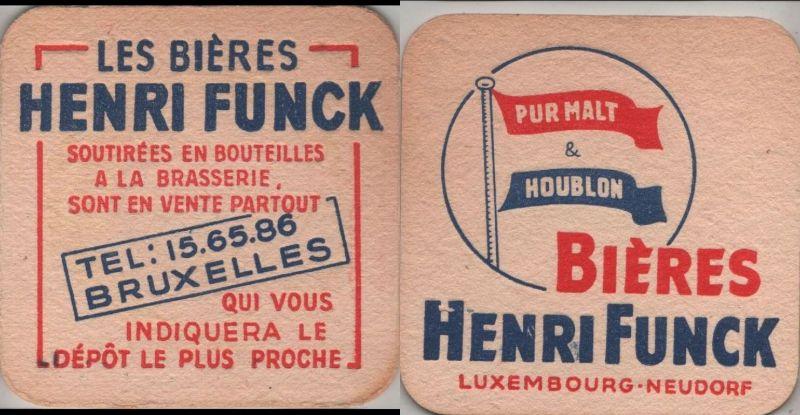 Bierdeckel quadratisch - Funck