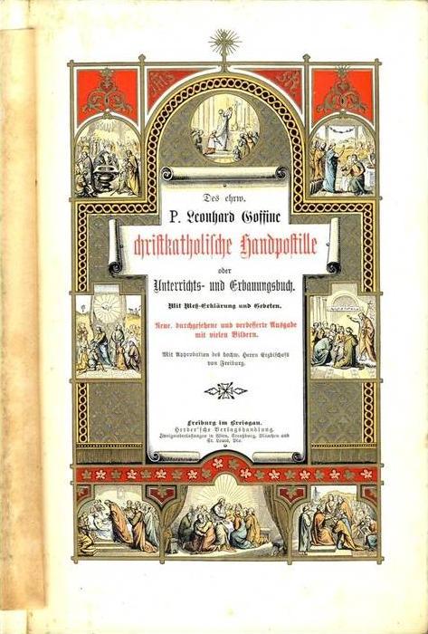 Christkatholische Landpostille von 1905 --- sh. beschr. !!