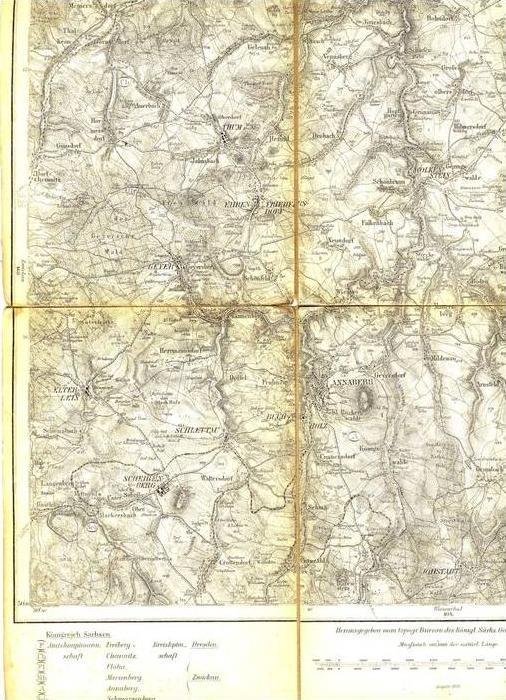 Landkarte - Annaberg v. 1880  (289999-43)