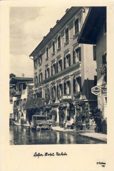 Lofer v.1941 Hotel Bräu & Fotogeschäft (17029)