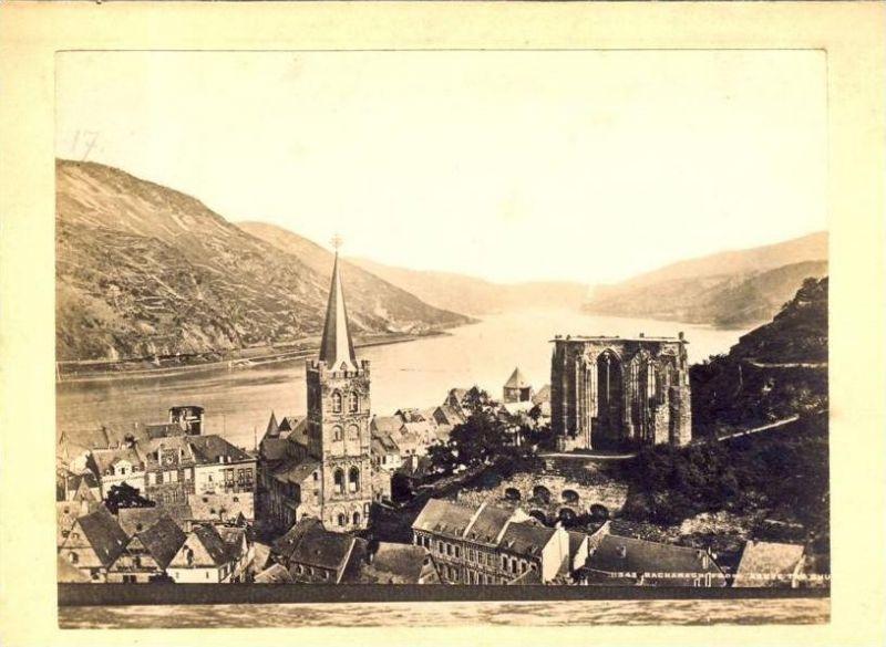 Bacharach von 1896 Teil Stadt Ansicht (21)