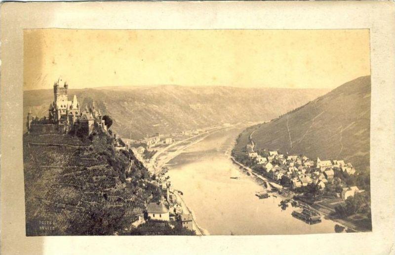 Cochem  von 1897  Teil-Stadt-Ansicht & Burg...sh. beschr. !! (025)