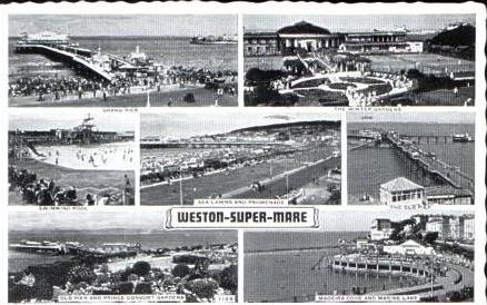 Weston-Super-Mare v.1961 7 Ansichten (17134-008)
