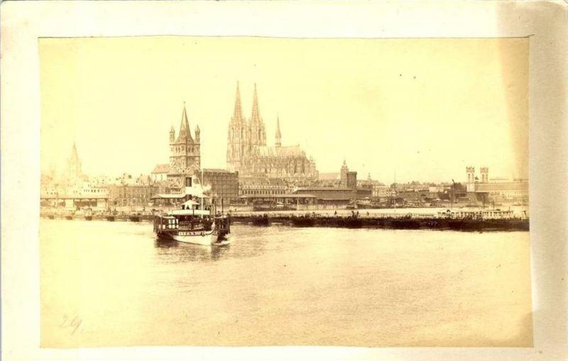 Köln  von 1897  Teil-Stadt-Ansicht & Dom...sh. beschr. !! (026)