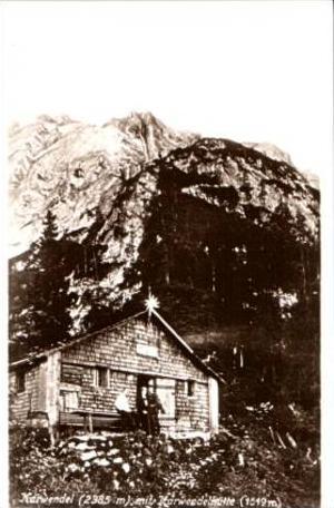 Karwendel v.1929 Karwendelhütte (17137)