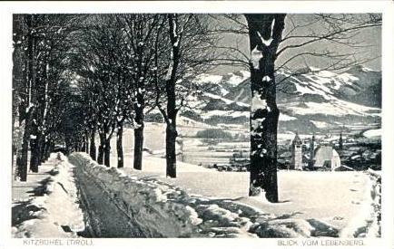 Kitzbühel v.1929 Dorf & Weg im Winter (17141)