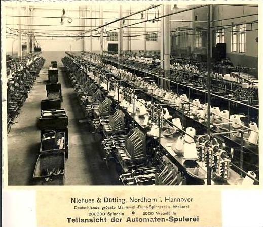 Nordhorn v. 1940 Nino-Teilansicht Spulerei ( 32952 )