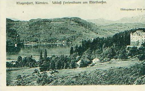 Klagenfurt v.1943 Schloß & See (17534)