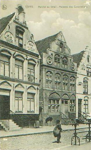Ypres v.1915 Strasse siehe Foto !! (17571)