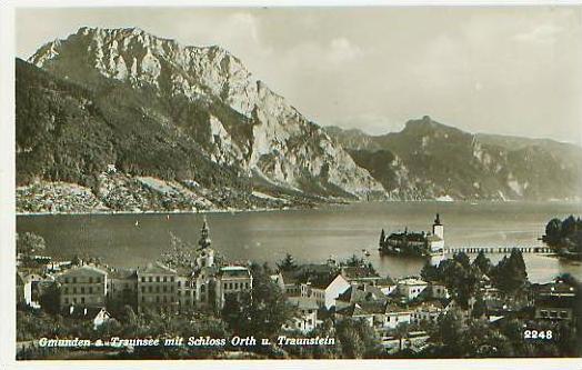 Gmunden v.1965 Stadtansicht (17580)