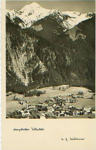 Mayrhofen v.1934 Stadtansicht (17597)