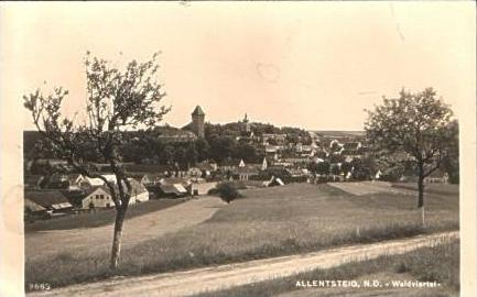 Allensteig v.1943 Stadtansicht (16347)